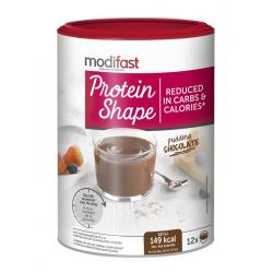 Protein shape pudding chocolade