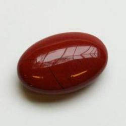 Ovale steen discus jaspis rood
