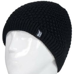 Ladies cable hat nora black one size