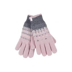 Ladies cable gloves S/M Trondheim coral